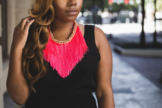 TAKING FRINGE TO ANOTHER LEVEL : CUSTOM NECKLACE BY STEPHANIE BIJOUX [FT. STEPHANIE BIJOUX]